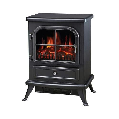 Galleon Fires Original Black Sirius Electric Stove - Electric Fires Stove Freestanding- Electric Stove Heater Stove Fire Places Fireplaces - With Log Flame Effect - Black Galleon Fireplaces