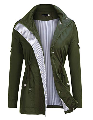 Bosbary-Womens-Rain-Jacket-Active-Outdoor-Hiking-Climbing-Raincoats-Waterproof-Lightweight-Hooded-Trench-Coats
