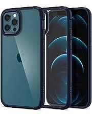 Spigen Ultra Hybrid etui kompatybilne z iPhone 12 Pro i kompatybilne z iPhone 12 -Navy Blue