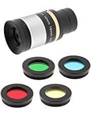 "Shiwaki 1.25""31.7mm 8-24mm Zoom Ocular Multi Revestido + Filtro De Lente para Telescopio"