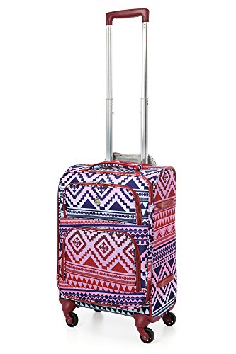 "Price comparison product image Aerolite 22x14x9"" Carry On MAX Lightweight Upright Travel Trolley Bags Luggage Suitcase, 4 Wheel Spinner, Maximum Allowance Approved for Delta, South West, American Airlines!"