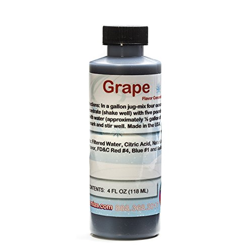 Grape Shaved Ice and Snow Cone Flavor Concentrate 4 Fl Ounce -