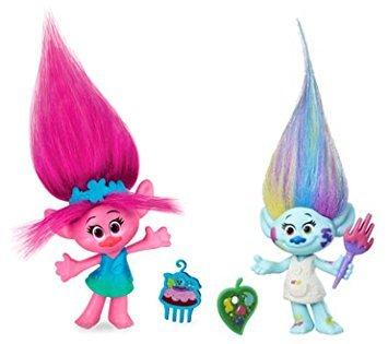 DreamWorks Troll Dolls Trolls Movie 2 Figure pack 4 Poppy Poppie /& Harper Hasbro
