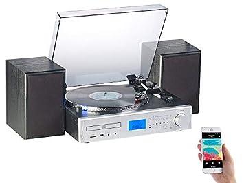 Auvisio- Cadena estéreo de 80 W con codificador Digital / FM ...