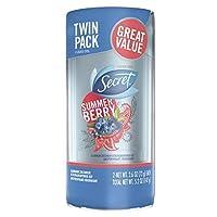 Deals on 2-Pack Secret Summer Berry Deodorant and Antiperspirant 2.6 oz