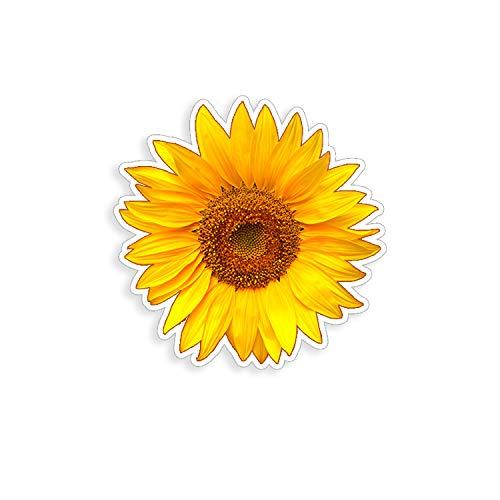Golden Yellow Sunflower Sticker cup laptop car flower vinyl decal window bumper wall graphic