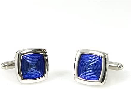 Fashionable square delicate blue fiber wedding men's shirt cufflinks cuff links