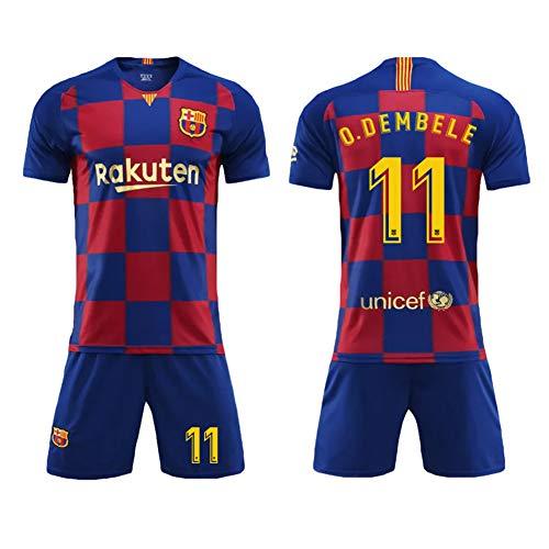 (Football Costume Messi #10, Suárez #9, Umtiti #23, SERGIO #5, Coutinho #7, Arthur #8, Vidal #22, O. Dembele #11, Pique #3, Barcelona,   barça, Football Costume Set T-Shirt Men Clothing-O.Dembele)