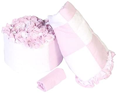 Baby Doll Bedding Gingham Cradle Bedding Set Lavender by Baby Doll Bedding