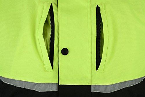de 12XL motociclismo Con impermeable Chaqueta protectores reflectante M Texpeed Negro OZBWRqanag