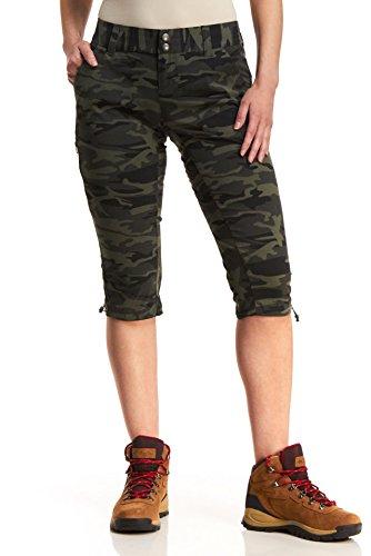 Columbia Womens Saturday Trail Printed Knee Pants, 6 x 18, Gravel Camo Print