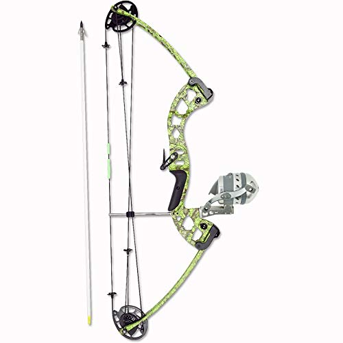Muzzy Bowfishing Vice Bowfishing Kit with Compound Bow, Pre-Spooled Reel, Arrow Rest and Arrow - Right Hand