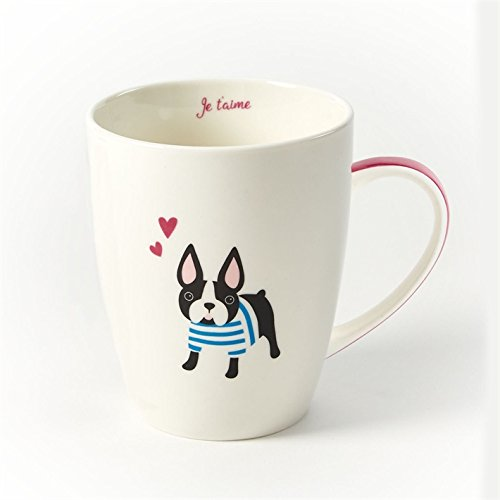 Kennel Club Coffee Mug in Gift Box by Stacy Claire Boyd, Puppy Love (Boston Terrier) (Club Terrier)