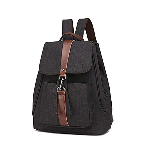 Per Nero Da Con Arrampicata Donne colore All'aperto Coulisse Le Blu Tela Laptop In Chen Zaino Impermeabile Retrò Borsa Donna qFUR5HWw5