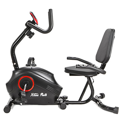 XtremepowerUS Recumbent Fitness Exercise Bike Magnetic High Capacity Deluxe XtremepowerUS