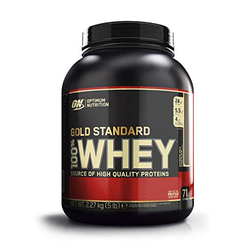 Optimum Nutrition Gold Standard Whey Muscle Building and Recovery Protein Powder with Glutamine and Amino Acids, Extreme Milk Chocolate, 71 Servings, 2.27 kg