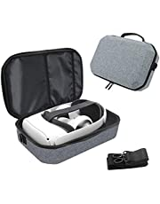 Travel Case for Oculus Quest 2 VR Gaming Headset and Controllers Accessories, Shockproof Hard Carrying Case Shoulder Bag Protective Storage Box Bag (Gray)