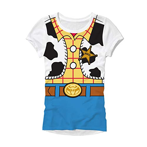 Toy Story Woody Costume Juniors T-Shirt (Large, Woody)]()