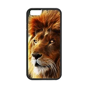 Diy Lion Animal Phone Case for iphone 6 Plus (5.5 inch) Black Shell Phone JFLIFE(TM) [Pattern-1]