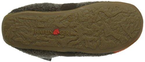 Haflinger Everest Puck Jungen Flache Hausschuhe Braun (braunmeliert / 63)