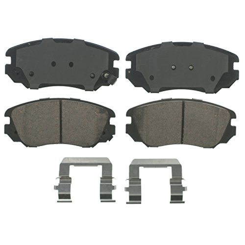 Wagner QuickStop ZD1421 Ceramic Disc Pad Set Includes Pad Installation Hardware, Front
