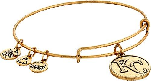 Kansas City Royals Charm - Alex and Ani Kansas City Royals Cap Logo Expandable Rafaelian Gold Bangle Bracelet