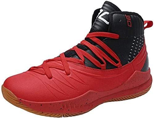 高トップスポーツバスケットボールシューズ、耐摩耗性非スリップカジュアルシューズ (Color : A, Size : 37EU)