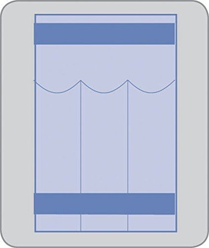 "medline DYNJSD1018L Long Instrument Pouches, Plastic, 10""..."