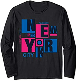 [Featured] Colorful New York City, Urban NYC Fashion, New York City Long Sleeve in ALL styles | Size S - 5XL