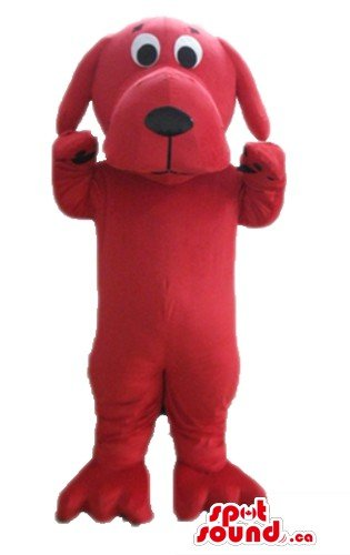 [Clifford the Big Red Dog SpotSound Mascot US costume cartoon character] (Adult Clifford Costumes)