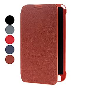 Solid Color PU Leather Case with Stand for Samsung Galaxy Note I9220 (Assorted Colors) --- COLOR:Red