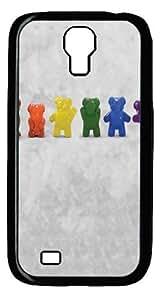 Gummy Line Dance Custom Samsung Galaxy I9500/Samsung Galaxy S4 Case Cover Polycarbonate Black