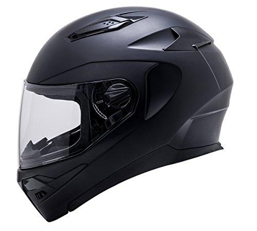 - Kali Apex Solid Matte Black Full Face Motorcycle Helmet S M L XL (S)