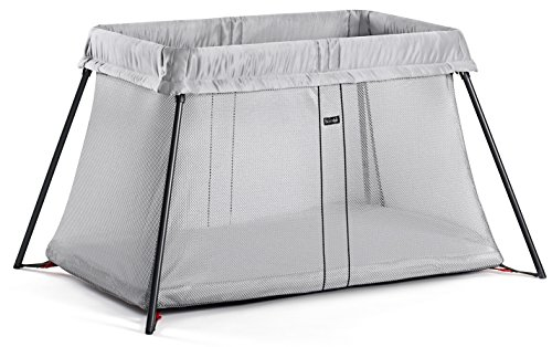 BabyBjorn Travel Light Portable Crib - Silver