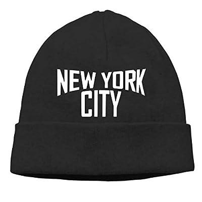 UNGZKSUU Hat York City Unisex Cuff Beanie Cap Wool Warm Slouchy Perfect Stretchy & Soft Black