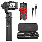 Hohem iSteady Pro 3-Axis Handheld Gimbal Stabilizer for Gopro Hero 7/2018/6/5/4/3+, Yi Cam 4K, AEE, SJCAM Sports Cams Action Camera, 12h Run-Time, APP Controls for Time-Lapse, Tracking, Auto Panoramas
