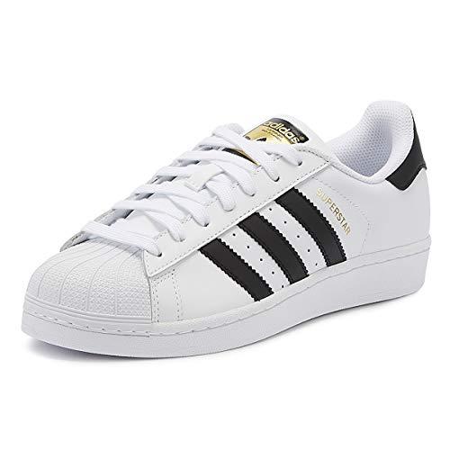 adidas Originals Men's Superstar Casual Sneaker, White and Black 8.5 (Best Designer Sneaker Brands)
