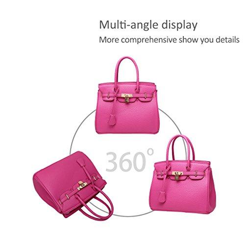 Women Pink Nicole Top Crossbody Orange Shoulder PU Satchel amp;Doris Handbags Tote Handle for Bag Bag Ladies Leather gRr5agxwWq