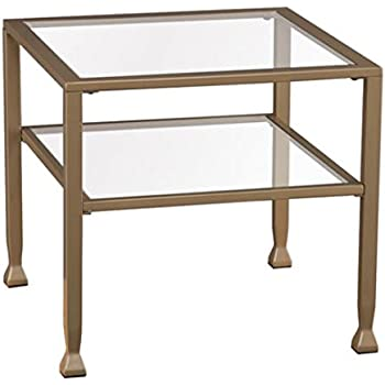 Southern Enterprises Metal Glass Bunching Coffee Table In Matte Gold