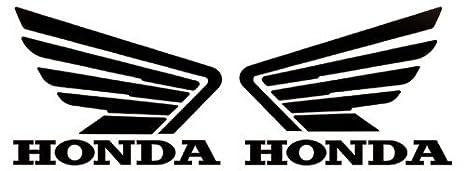 honda wings logo stickers decals pair black 5 amazon co uk car rh amazon co uk honda wing logo honda wing emblem