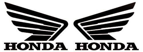 Honda Wings Logo Stickers Decals Pair Black 5 Amazoncouk Car Motorbike
