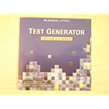 Test Generator Version 3.0 Update Mcdougal Littell