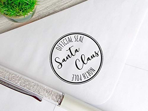 Santa Post Rubber Stamp Santa Claus Official Seal Gift Tag Christmas Stamp for Cards Gift Wrap Santa Stamp Custom Holiday Stamp Christmas Gifts Stamp Santa Seal North Pole Postmark