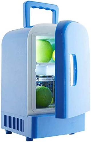 カー用品冷蔵庫ポータブル,ミュート軽量省エネデュアルユース冷却ボックスミニ冷蔵庫のためにベッドルームバー-車載旅行事務所寮アウトドアキャンプ,Blue