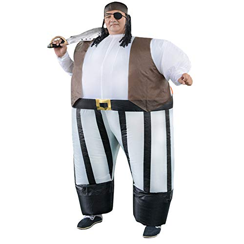 HHARTS Adult Pirate Inflatable Costume Blow Up Costume for Halloween Cosplay Party Christmas Unisex Inflatable Costume]()