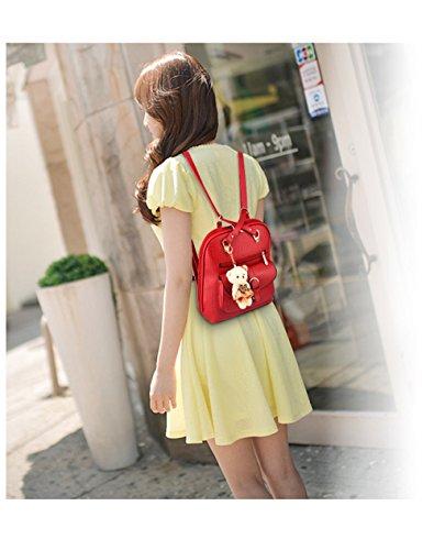 Wewod Mochilas Escolares Mochila de a Diario Mochilas Tipo Casual Bolso de Escuela para Mujer 30 x 31 x 15 cm (L X H x W ) Rojo