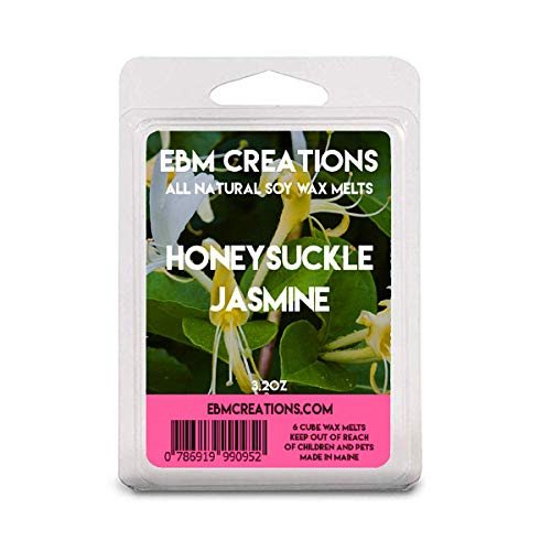 Honeysuckle Jasmine - Scented All Natural Soy Wax Melts - 6 Cube Clamshell 3.2oz Highly Scented!