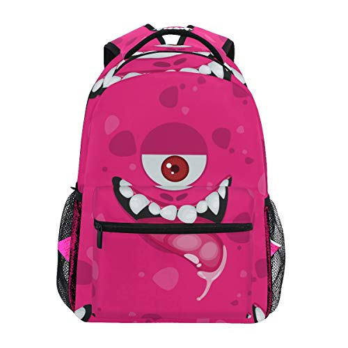 COVOSA Halloween Seamless Pattern Face Cartoon Expression Lightweight School backpack Students College Bag Travel Hiking Camping Bags ()
