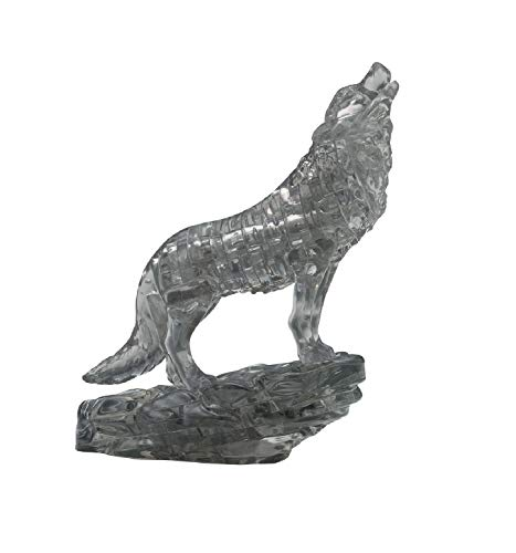 University Games 3D Crystal Puzzle Wolf, Black