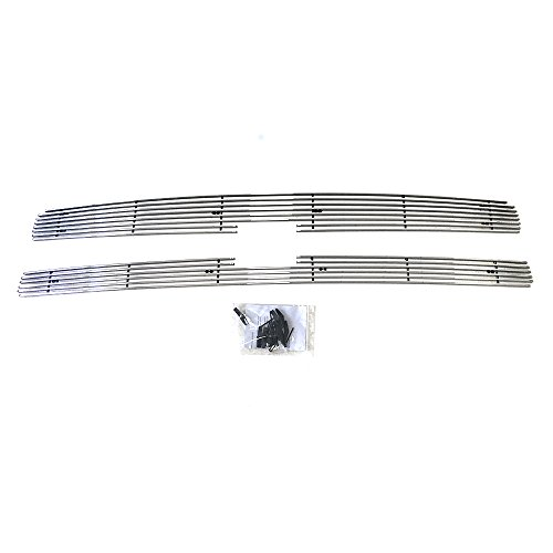 Autoforever 2PCS Billet Grille Inserts Aluminum Grills Assembly for 2007-2013 Chevy Silverado 1500